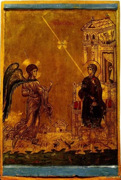 Византийская икона. Конец XII в. Монастырь св.Екатерины, Синай