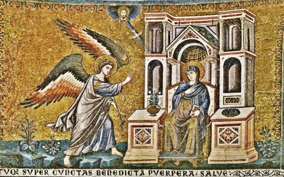 Пьетро Каваллини. Мозаика апсиды базилики Санта Мария ин Трастевере. 1291 г. Рим, Италия