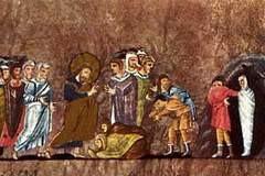 Воскрешение Лазаря: иконы, мозаики, фрески