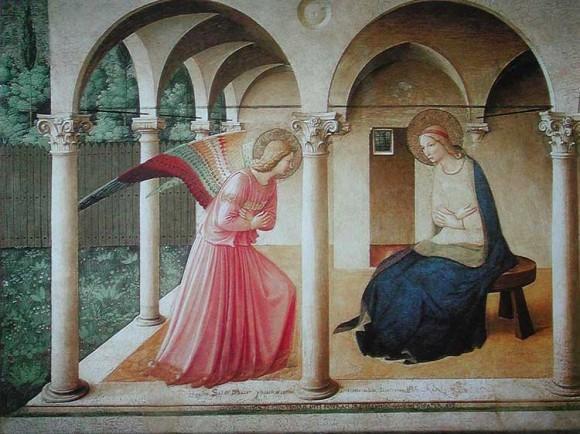 Фра Беато Анджелико. 1450 г. Фреска из монастыря Сан Марко, Флоренция
