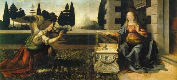 Леонардо да Винчи. 1472-1475 г. Галерея Уффици, Флоренция