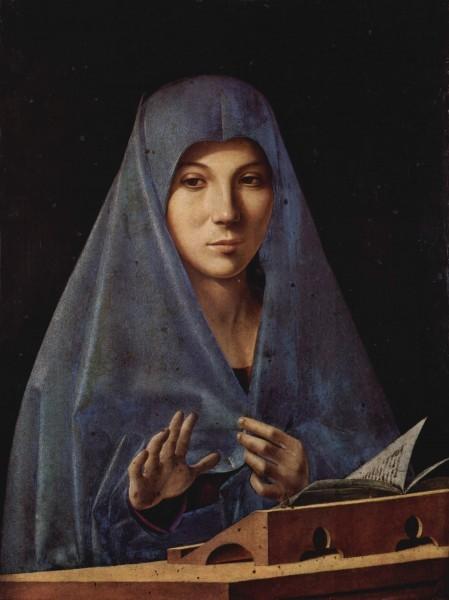 Антонелло да Мессина. Мария Аннунциата. Около 1476 г. Национальный музей, Палермо