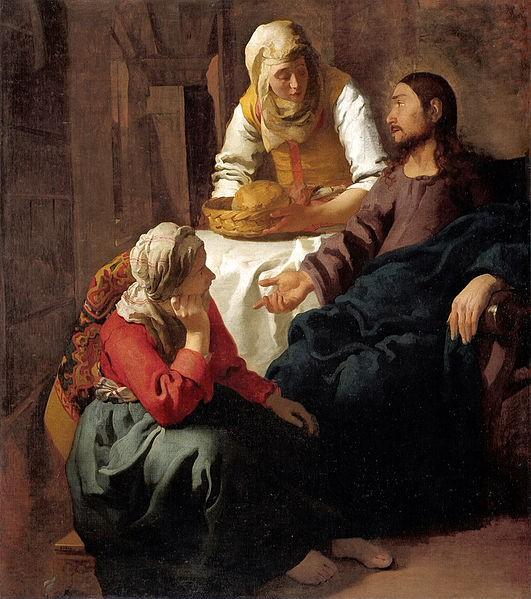 Верммер.  «Христос в доме Марфы и Марии»