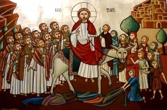 Вход Господень в Иерусалим. Иисус вступил в город на осле