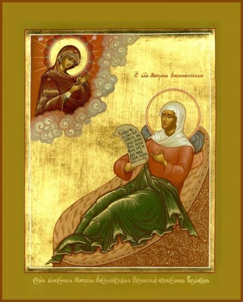 Икона святой Матроны Анемнясевской_matrono.ru
