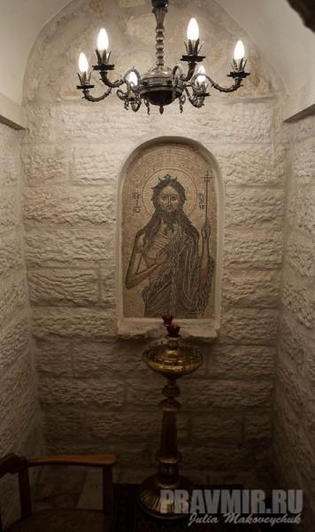 Мозаичное изображение Иоанна Предтечи. Предполагаемое место его рождения