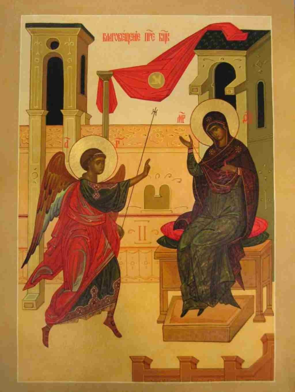 Благовещение Пресвятой Богородицы 7 апреля в 2020 году