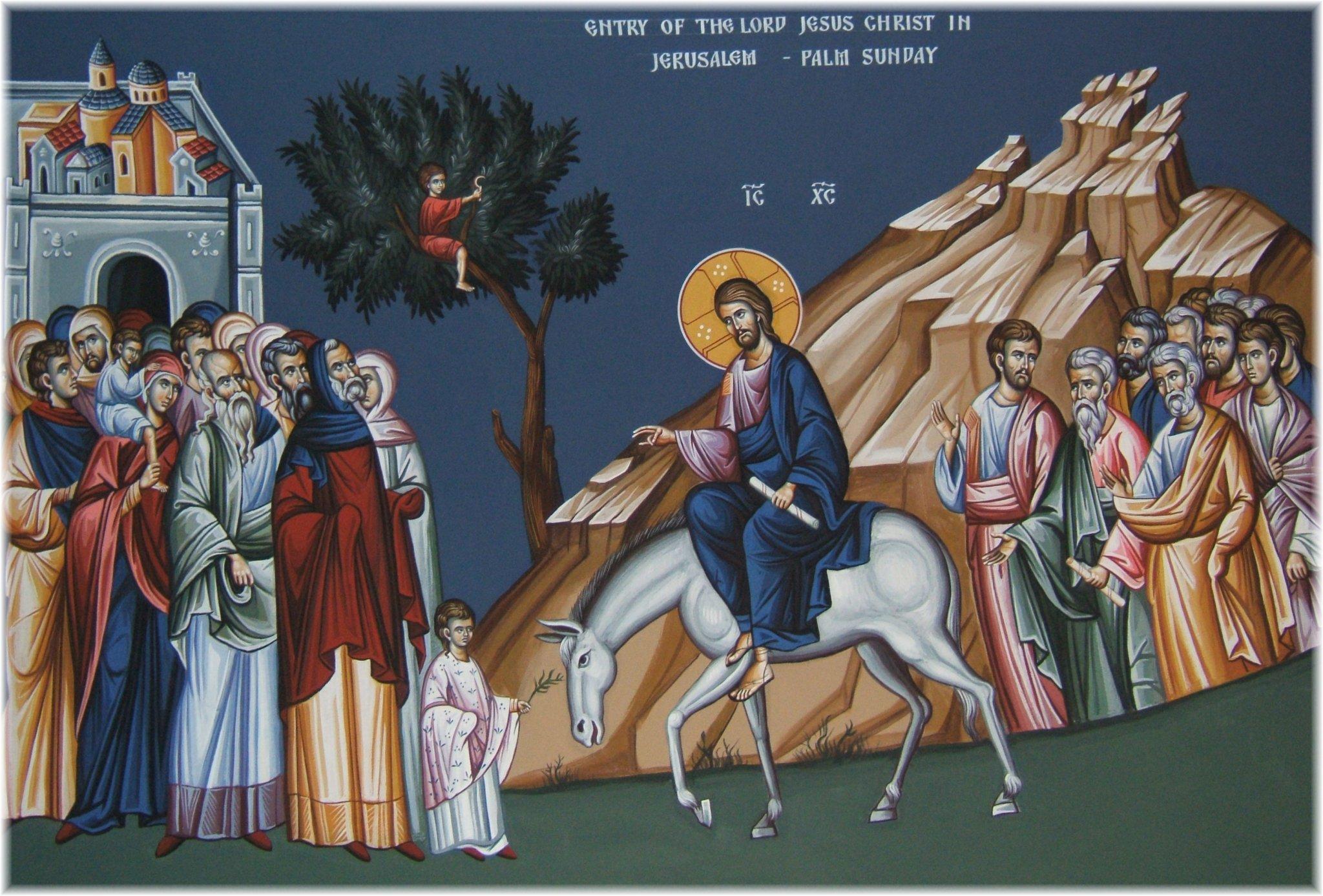 Вход Господень в Иерусалим православные отмечают 25 апреля