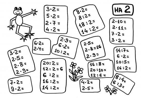 Пособие Алексея Карпова: лист таблицы умножения