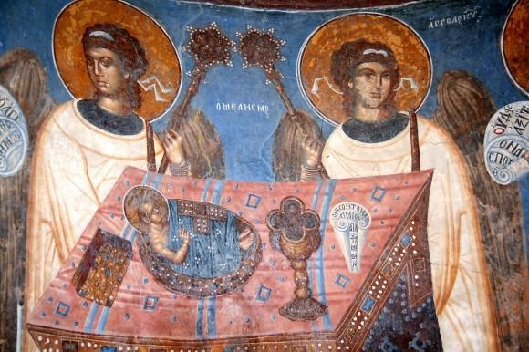Македония. Алтарь. Хлеб -Тело Христово
