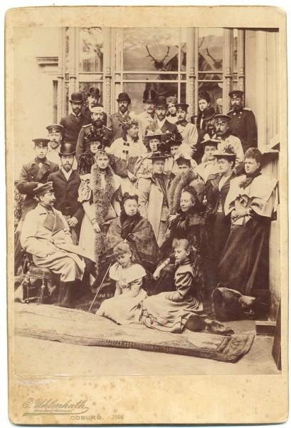 Помолвка Цесаревича Николая Александровича с Алисой Гессенской в Кобурге. 1894 г.
