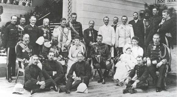 Цесаревич Николай в гостях у королевской семьи в Греции. 1890 г.