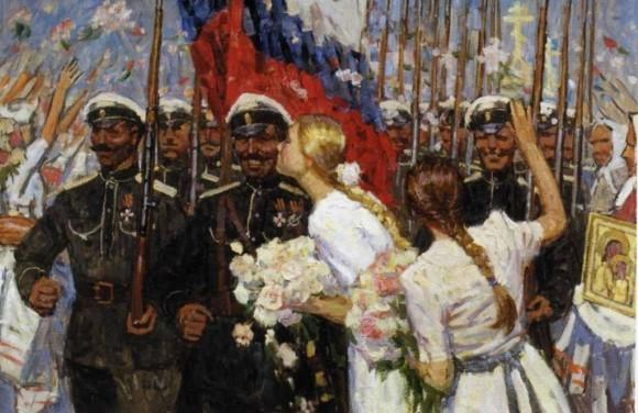 Белые пришли. Картина Дмитрия Шмарина