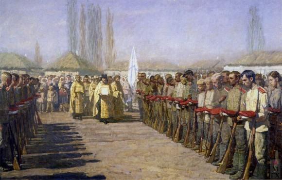 За Русь Святую. Картина Дмитрия Шмарина