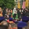 Патриархи Русской и Иерусалимской Церквей совершили молебен у памятника святым Кириллу и Мефодию