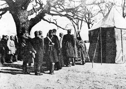 Свящ. Митрофан Сребрянский. Литургия у передовых позиций Русско-японской войны, 1904 - 1906 годы