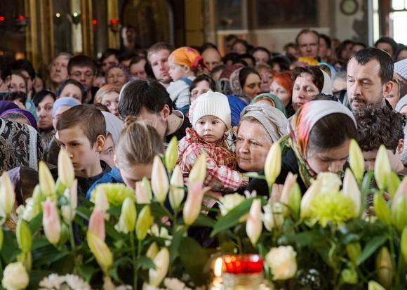 Вынос плащаницы в храме свт. Николая в Кузнецах (1)