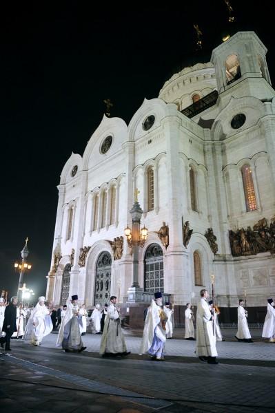 Пасха в храме Христа Спасителя (13)