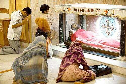 Реликварий с частицей мощей Апостола Фомы в Индии.