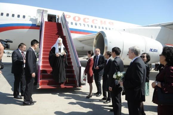 Начался визит Святейшего Патриарха Кирилла в Китай (1)