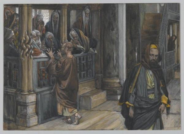 Иуда у первосвященников. Иуда Искариот. Джеймс Жак Тиссо