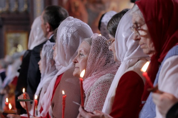 Пасха в храме Христа Спасителя (28)