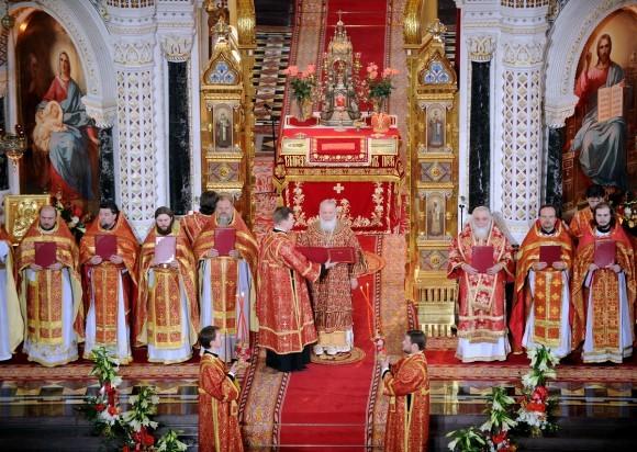 Пасха в храме Христа Спасителя (35)