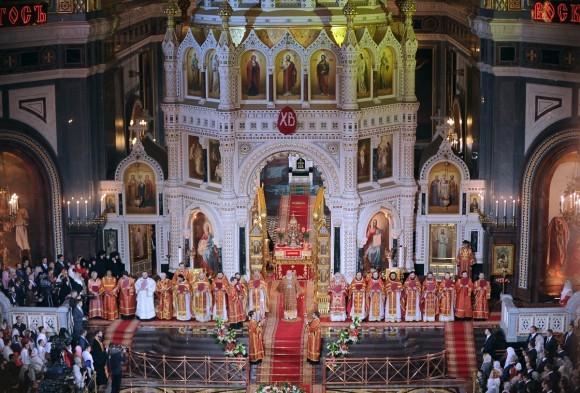 Пасха в храме Христа Спасителя (36)