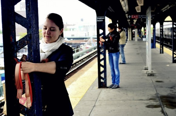 Георгиевская ленточка на улицах Нью-Йорка (1)