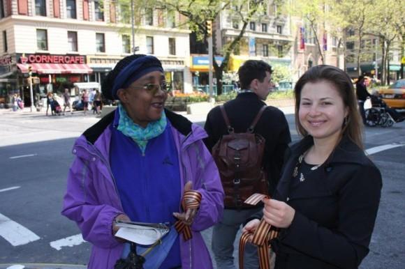 Георгиевская ленточка на улицах Нью-Йорка (3)