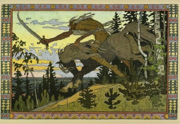 Царь Кощей. Картина И. Билибина