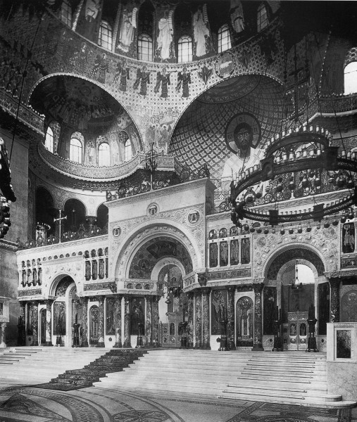 Kronstadt_cathedral_interior_1914