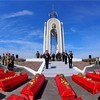 В Новгородской области захоронили останки полутысячи солдат, погибших в годы войны