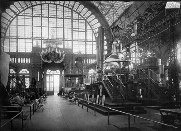 Машинный отдел. Всероссийской художественно-промышленной выставки. 1896 г. Негатив 18х24 см