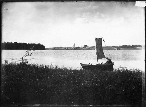 Озеро Вселуг. Широковский погост. Негатив 18х24 см
