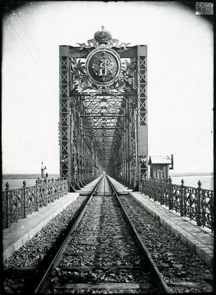 Александровский мост через Волгу в Сызрани. 1894 г. Негатив 18х24 см