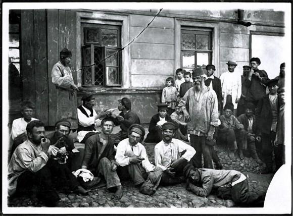 Нижегородские «босяки». Негатив 18х24 см
