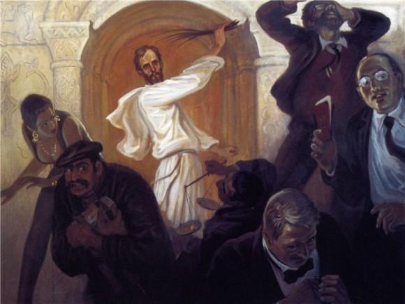 Борис Ольшанский. Изгнание торгующих из храма