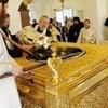 В Донском монастыре совершили молебен на окончание мироварения