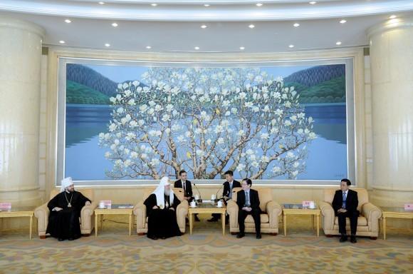 Встреча с директором Государственного управления по делам религий при Государственном Совете КНР Ван Цзоанем