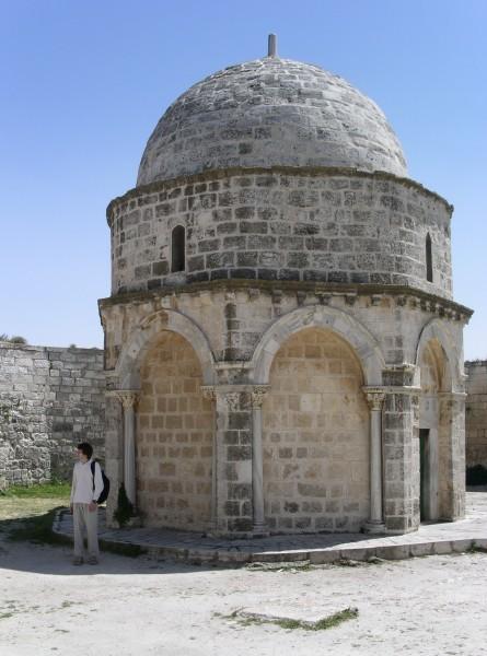 1.Часовня на месте Вознесения, сооруженная крестоносцами там, где находился раннехристианский храм