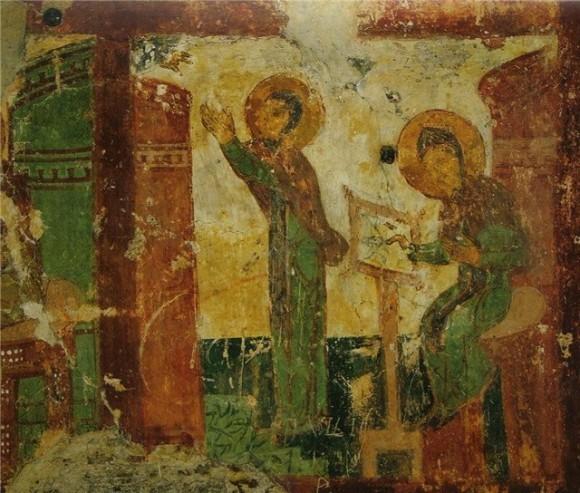 Сцена из жития прп. Евфросинии Александрийской