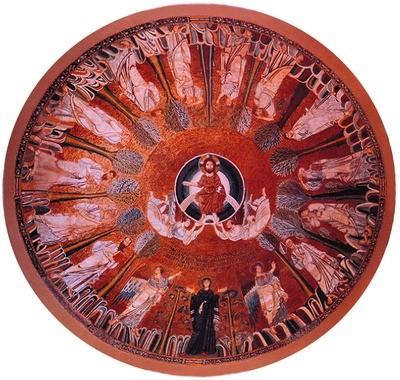 5.Мозаика купола церкви Св. Софии в Фессалонике. 880-885 гг. Греция
