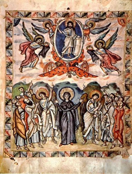 6.Миниатюра Кодекса Раввулы. 586 г. Библиотека Лауренциана, Флоренция, Италия