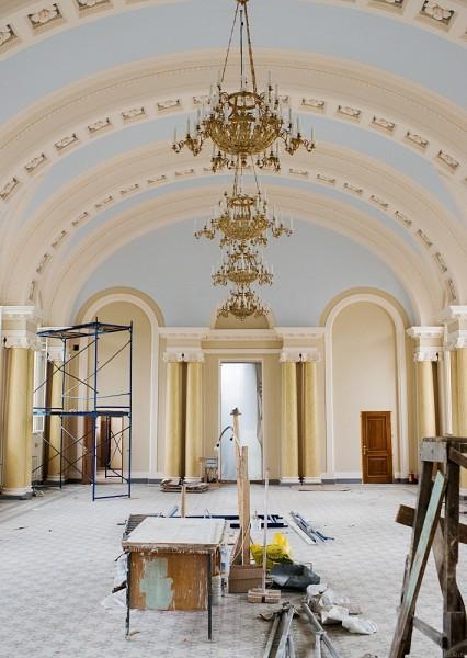 На третьем этаже этого же здания заканчиваются отделочные работы. Там будет расположен лаврский музей.