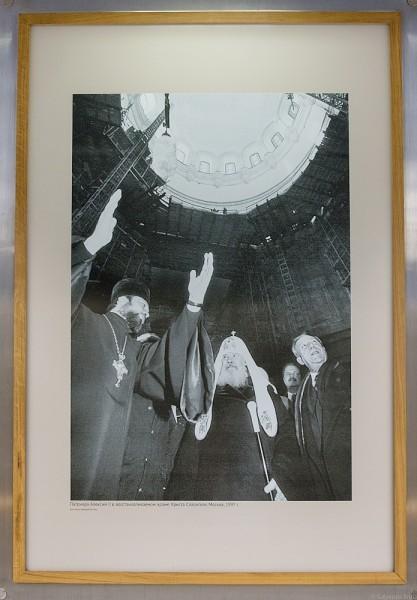 «Патриарх Алексий II в восстанавливаемом Храме Христа Спасителя. 1997 год. Москва» , фото Игорь Табаков/ ИТАР-ТАСС