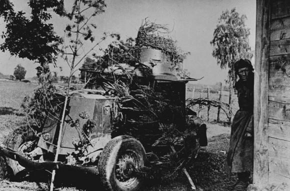 11. Бронемашина на исходном рубеже. 1941 г.