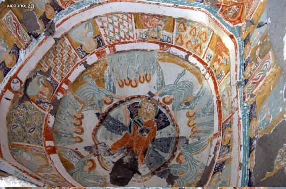 15.Фреска Агакалти-Килисе. Начало XI в. Каппадокия, Турция