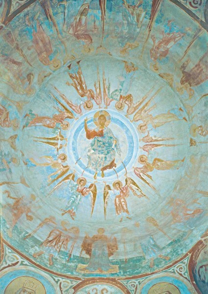 19.Фреска купола церкви св.Георгия в Старой Ладоге. 60-е годы XII в. Россия
