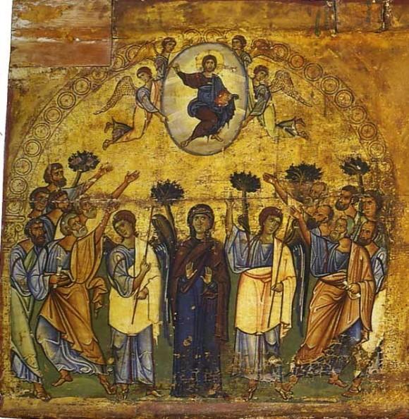 21.Икона-эпистилий. Византия. 2-ая половина XII в. Монастырь св.Екатерины, Синай. Фрагмент